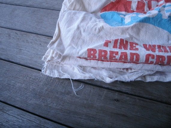 5 cotton breadcrumb sacks, for decoration, upcycling, fabric
