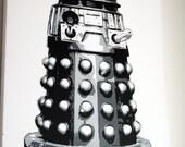 Original Painting - Dalek on Canvas - Pop art style.