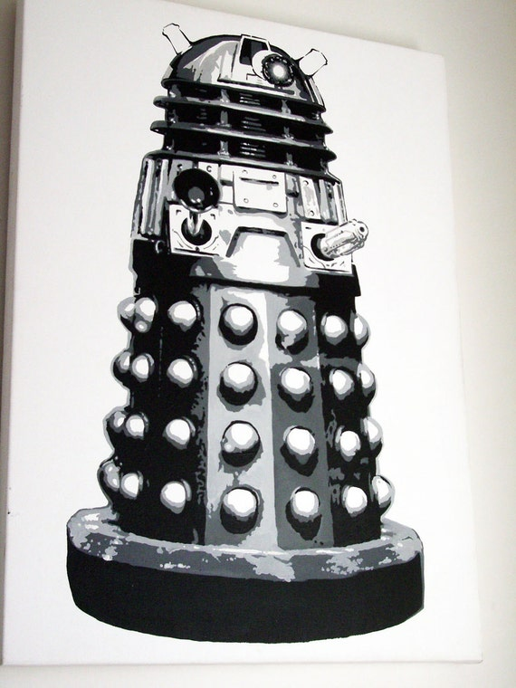Original Painting - Dalek on Canvas - Pop art style.
