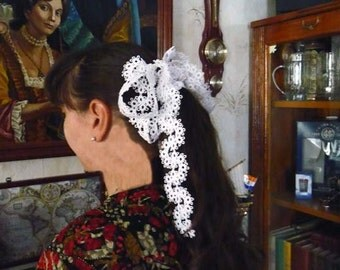 Hair Accessories Tatting lace  - wedding accessory - Hair accessory