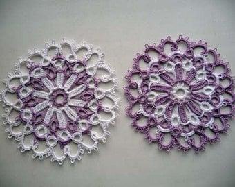Wedding Lace Coasters  - wedding decor  - handmade doily  - vintage style - Handmade coasters - home decor - table decor-retro party