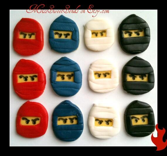 Fondant Cupcake Toppers- Ninjas