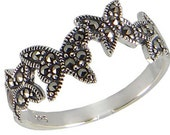 Butterfly Ring, Marcasite Sterling Silver Ring, Marcasite Women Ring, Butterfly Marcasite Ring, 925 Marcasite Butterfly ring, 925 Ring