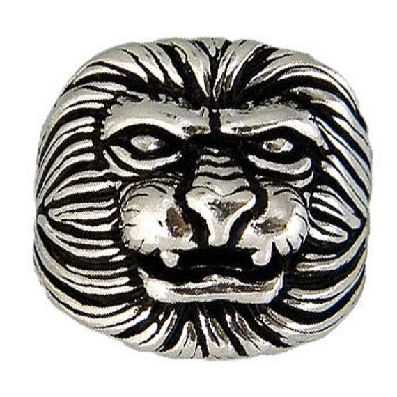 Lion Ring, Sterling Silver Lion Ring, Lion 925 Ring, Lion Face Ring, Big Size Lion Ring, Wild Animal Ring,Sterling Silver Ring, (OP 504 )