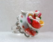 Fruit Salad Ring. Polymer Clay.