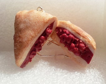 Cherry Pie Earrings. Polymer Clay.
