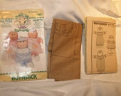 Cabbage Patch Kids Preemies Butterick Sewing Pattern 1984 French instruction included