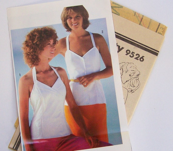 Simplicity 9526  Misses Fitted CAMISOLES Sizes 6 & 8 Vintage 80's Sewing Pattern UNCUT