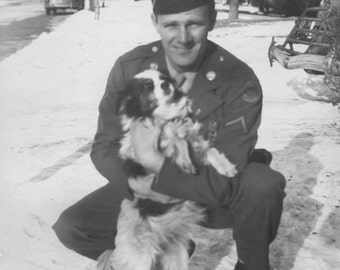 David - The Last Goodbye, A Soldier and His Dog, Home on Leave, 5x7 Digital Photo Reproduction