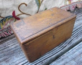 Antique Wood Sewing Machine Implement Box