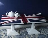 Pair of Vintage Union Jack Side Tables/Coffee Table