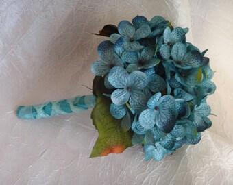 Hydrangea toss bouquet, flower girl bouquet, small bridal bouquet