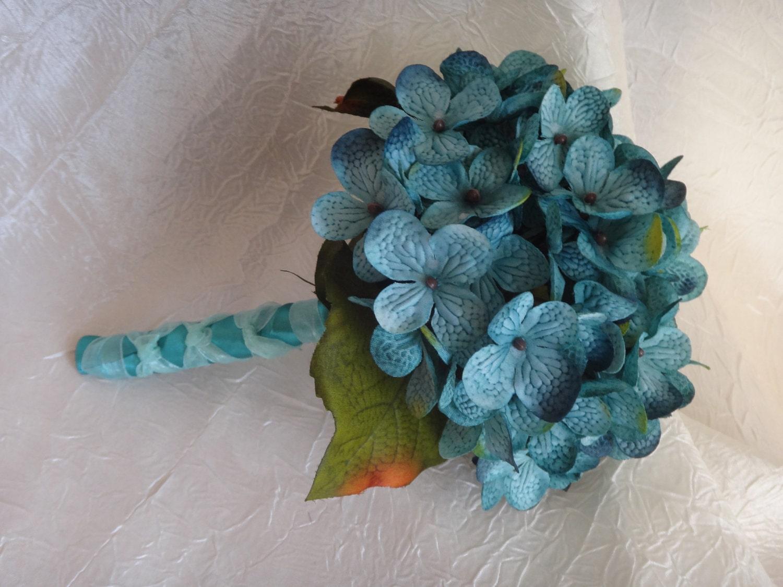 Bridal Bouquet Throwing : Hydrangea toss bouquet flower girl small bridal