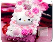 Nokia Lumia 900 Skin Case: 3D Cute Pink Kitty Whip Cream Hand Craft Custom Made Unique Hard Back Case Cover (HK)