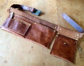 Handcrafted Leather Tool belt - recycled