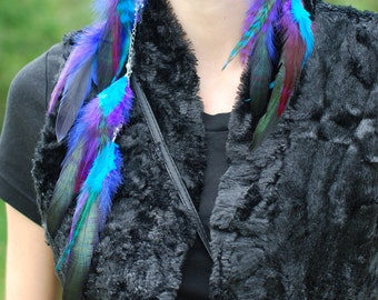 Mystique - Asymmetrical Feather Earrings