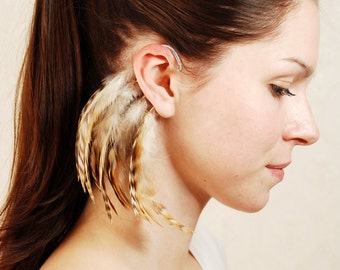 Feather Ear Cuff - Autumn
