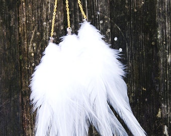 Feather Chain Ear Cuff - Milky