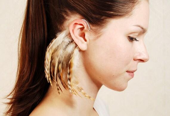 Feather Ear Cuff - Autumn