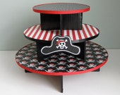 Reserved Pirate Theme Cupcake Stand Skulls