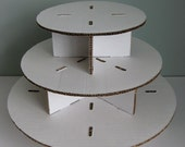 Unfinished Three Tiered Square or Round Cupcake Stand
