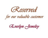Reserved for DMCisar (Necklace)