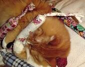 Organic Catnip Toy - Gussies / 3 Cat Toys - Mini Snakey Mice