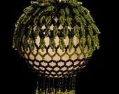 "Caribbean Island beaded Christmas ornament PATTERN 2.5"" bulb"
