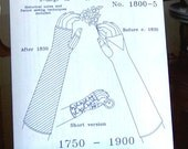 Fingerless Mittens / Gloves Historical Sewing Pattern for 1750 - 1900, 1800-5, by the Mantua Maker