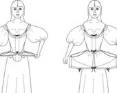 Georgian Sewing Pattern: Small Hoops / Panniers Multi Size Historical Sewing Pattern, 1700-2