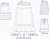 Victorian Sewing Pattern: Petticoat Pattern - 1880-3