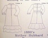 Victorian Sewing Pattern: Mother Hubbard Wrapper Multi Sized Pattern 1880-5