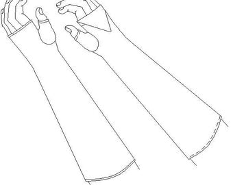 Fingerless Mittens / Gloves Pattern: Regency Sewing Pattern - 1800-5