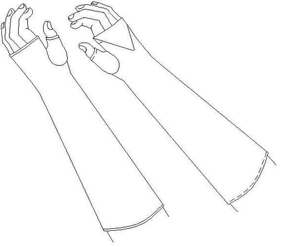 Fingerless Mittens / Gloves Pattern: Regency Sewing Pattern - 1800-5