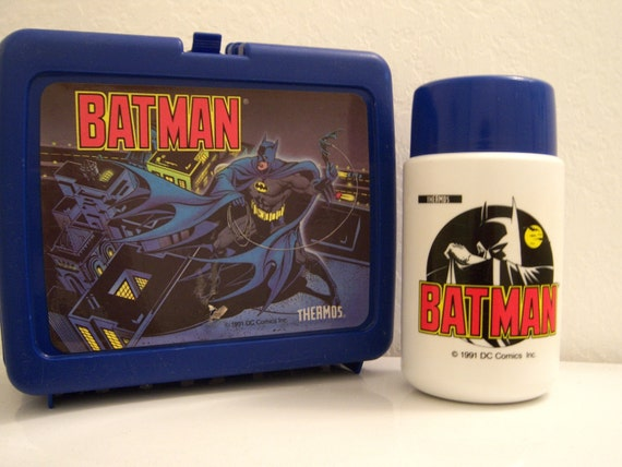 Reserved for Cat // 1991 // Batman thermos brand lunchbox (with thermos)