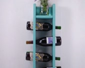 Wine Rack - Wall Hanging - Holds 4 Bottles - Any Color