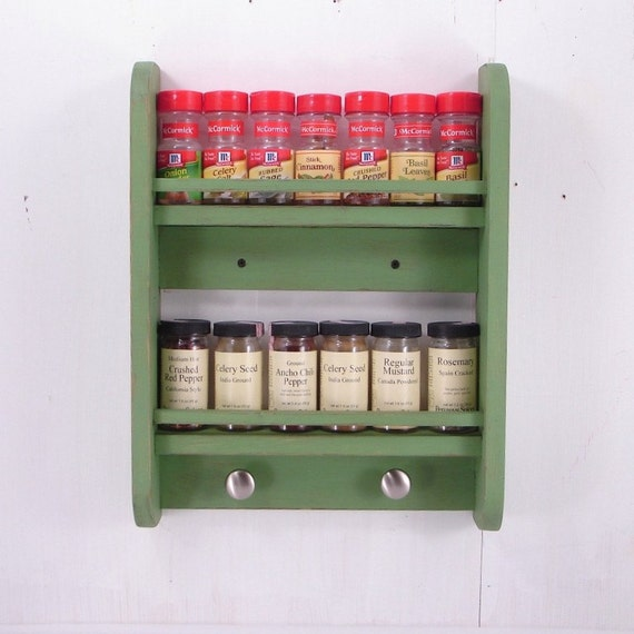 Small Spice Rack - Wall Hanging - Any Color