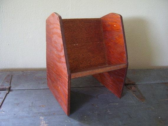 Handmade Pine Display Shelf/Vintage Desktop BookShelf
