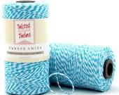 Blue - 240 Yards of Baker's Twine - 720 Feet - blue/white