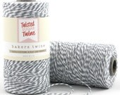 Gray - 240 Yards of Baker's Twine - 720 Feet - gray/white