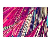 ON SALE Microscopic Modern Crystal Purple Edge Abstract 3