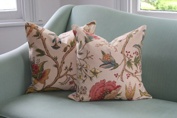 """Pair of 18"""" Thibaut Wenzel Cushion Covers"""