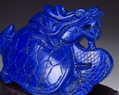 RESERVED. Lapis Lazuli carved figure. Ao Dragon Turtle. Chinese.