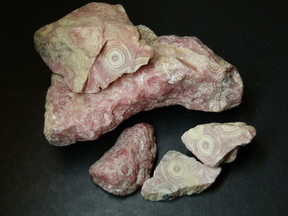Rhodochrosite rough natural mineral. 5 pieces.