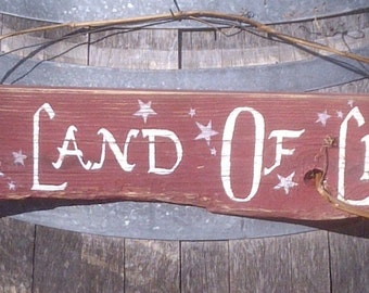 "Americana Sign Reclaimed Wood ""Sweet Land Of Liberty"""