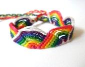 Friendship Bracelet - Glow in the Dark - Rainbow - Macramé