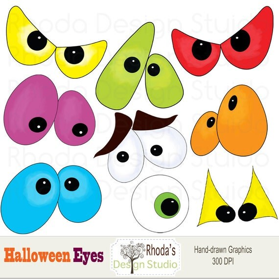 Halloween Eyes Clip Art Halloween digital clip art