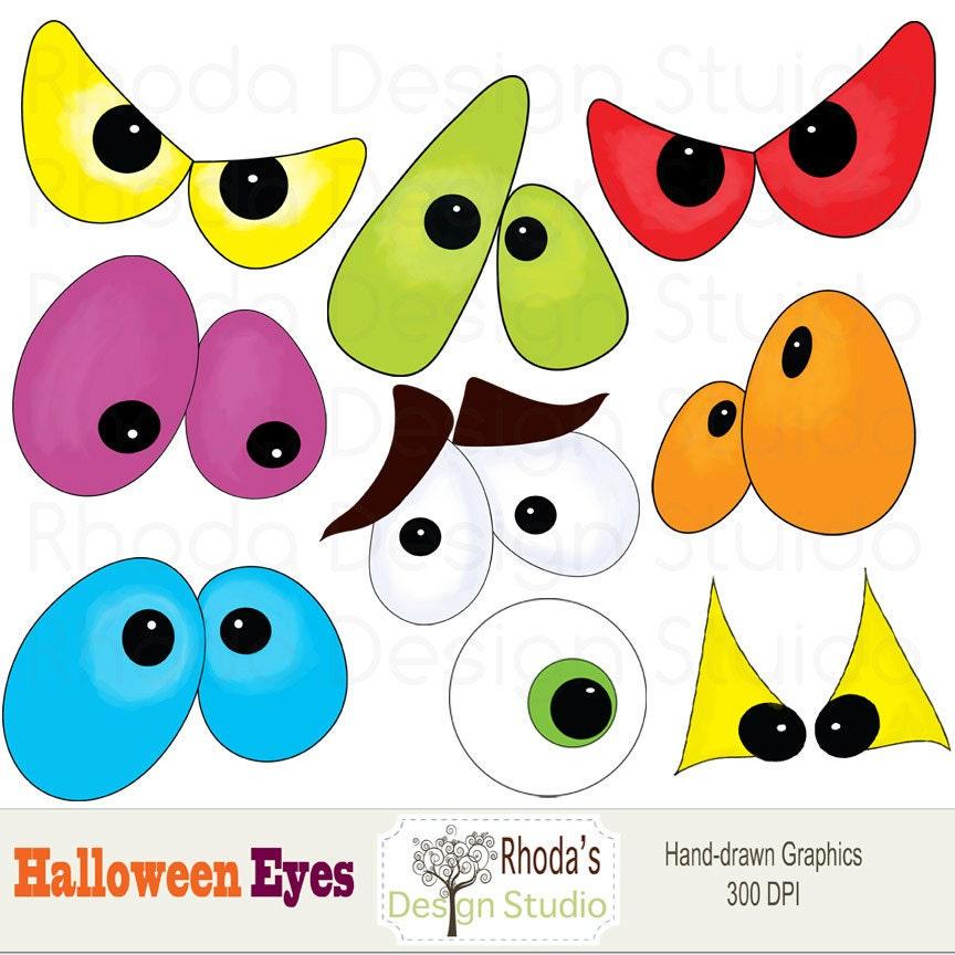 Halloween Digital Clip Art eyes images 9 graphics spooky