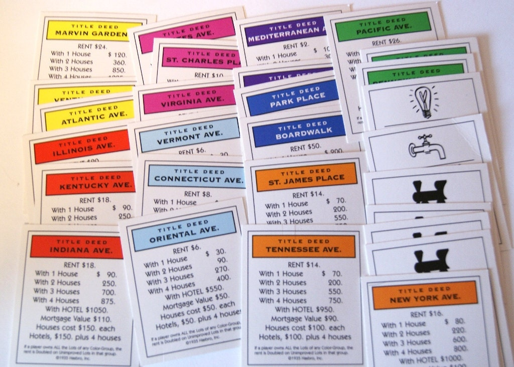 Exhilarating image intended for printable monopoly property cards