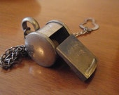 SALE  Antique Police Special Whistle - Made in German(y) with Chain